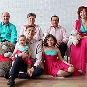 """Одежда ручной работы. Ярмарка Мастеров - ручная работа Одежда для всей семьи """"Фуксия и Мята"""". Handmade."""