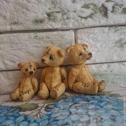 Мишки Тедди ручной работы. Ярмарка Мастеров - ручная работа. Купить Тедди-мишка 4 см.. Handmade. Желтый