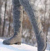 """Обувь ручной работы. Ярмарка Мастеров - ручная работа Валяные сапоги-ботфорты """"Интерстеллар"""". Handmade."""