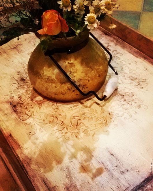 """Кухня ручной работы. Ярмарка Мастеров - ручная работа. Купить Поднос """"Ноктюрн"""" Sale!. Handmade. Бежевый, поднос для завтрака, узор"""