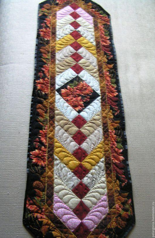 """Текстиль, ковры ручной работы. Ярмарка Мастеров - ручная работа. Купить Лоскутная дорожка (скатерть-салфетка, пэчворк) """"Лоскутные узоры"""". Handmade."""