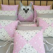 Комплекты одежды ручной работы. Ярмарка Мастеров - ручная работа Бортики в детскую кроватку, одеяло. Handmade.