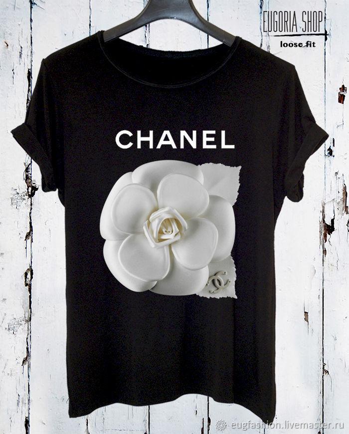 Black cotton print t-shirt - TEE10223CT, T-shirts, Sofia,  Фото №1