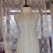 Одежда ручной работы. Ярмарка Мастеров - ручная работа Под заказ. Белое платье с косами из шерсти с шелком.. Handmade.