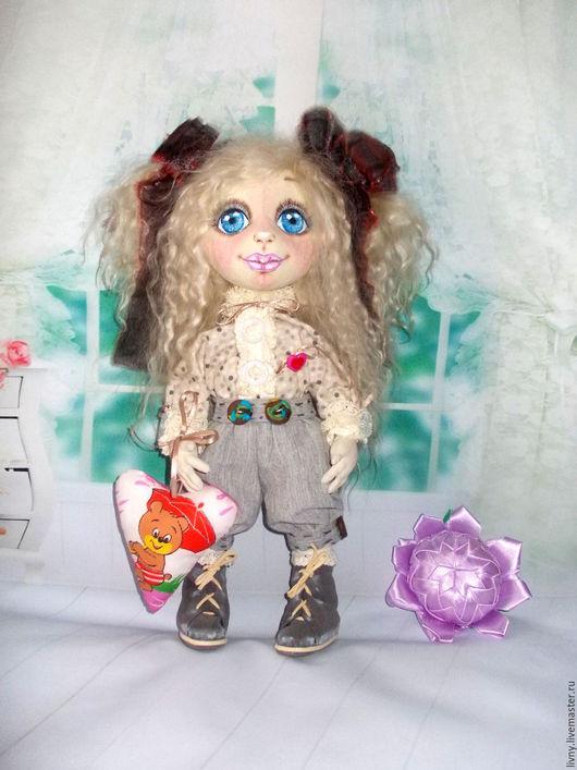 Коллекционные куклы ручной работы. Ярмарка Мастеров - ручная работа. Купить Виктория. Кукла текстильная. Кукла авторская.. Handmade. Серый