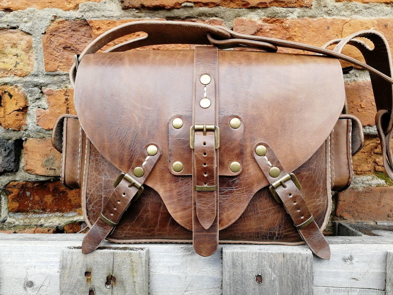 Steampunk leather bag, Сумки, Смоленск, Фото №1