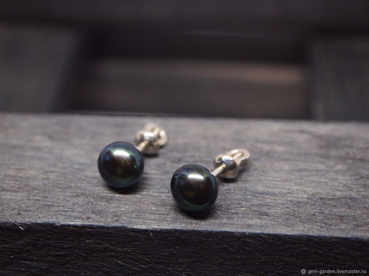 Poussettes with 925 sterling pearls, Stud earrings, Moscow,  Фото №1