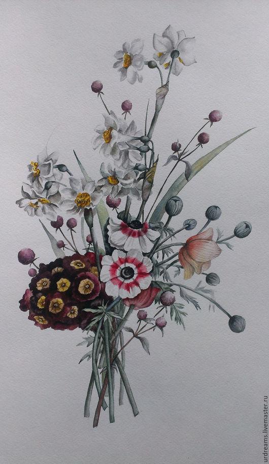 Картины цветов ручной работы. Ярмарка Мастеров - ручная работа. Купить Весенний экспромпт. Handmade. Комбинированный, винтажный стиль