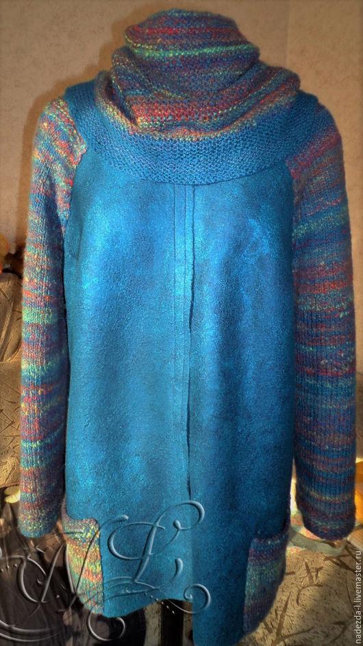 """Пиджаки, жакеты ручной работы. Ярмарка Мастеров - ручная работа. Купить Жакет-Кардиган валяный """" Поздняя Осень..!!!"""". Handmade."""