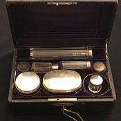 Антикварный дорожный туалетный набор серебро 84 пробы, Россия, 19 век