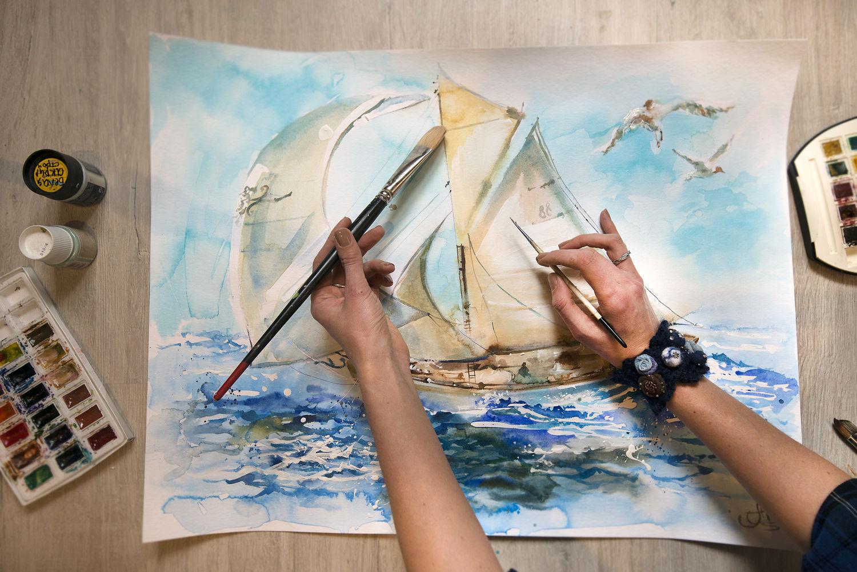Watercolor Sea Dreams, Pictures, Moscow,  Фото №1