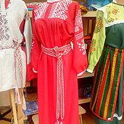 Свадебный салон ручной работы. Ярмарка Мастеров - ручная работа платье русское свадебное. Handmade.