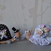 Куклы и игрушки ручной работы. Ярмарка Мастеров - ручная работа Свадебные улиточки. Handmade.