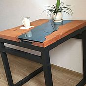 Для дома и интерьера handmade. Livemaster - original item Table of solid cedar with glass Biy. Handmade.