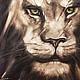 Лев Король. Картина маслом на заказ подарок мужчине, Животные, Лондон, Фото №1