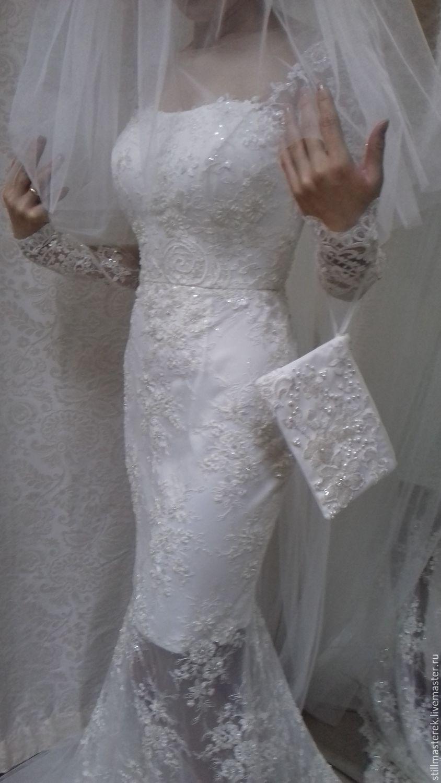 Кружевное свадебное платье в пол, Платья, Москва,  Фото №1