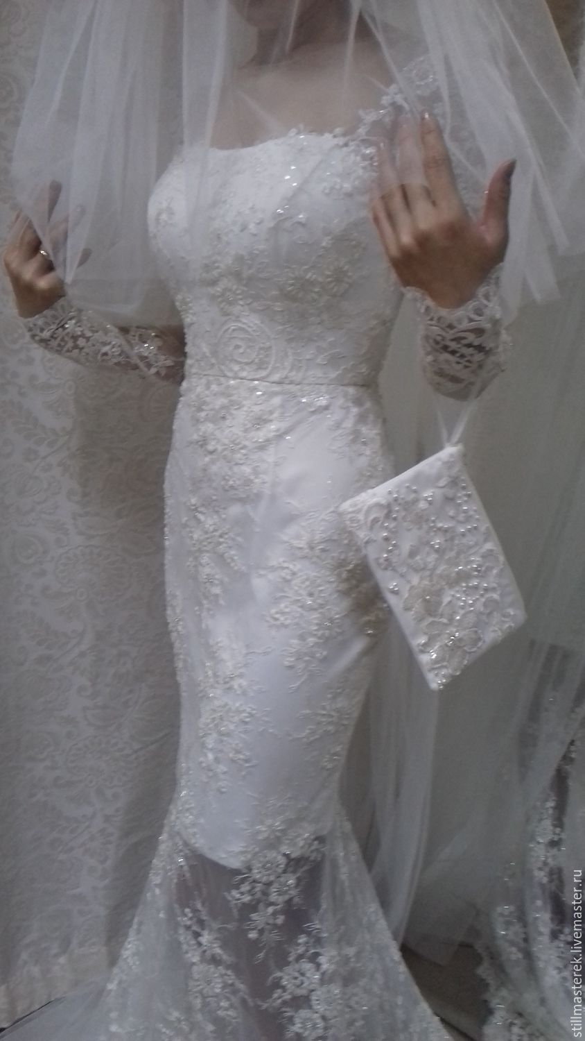 Lace wedding dress in floor, Dresses, Moscow,  Фото №1
