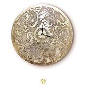 Watch handmade. Livemaster - original item Golden Roses wall clock handmade gold roses. Handmade.