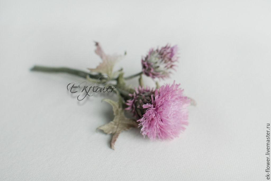 Silk-flower · Flowers handmade. Flowers made of fabric. Silk flowers.Thistle. Silk-flower
