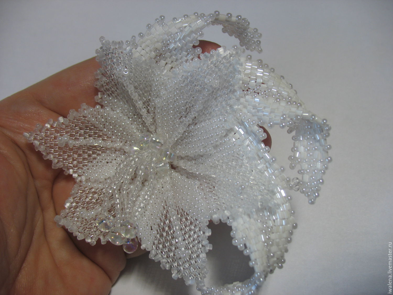 Brooches handmade. Livemaster - handmade. Buy brooch lily crystal.Handmade, a gift for any occasion, architectural design