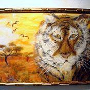 """Картины ручной работы. Ярмарка Мастеров - ручная работа Картина из шерсти """"Хозяин саванны"""". Handmade."""