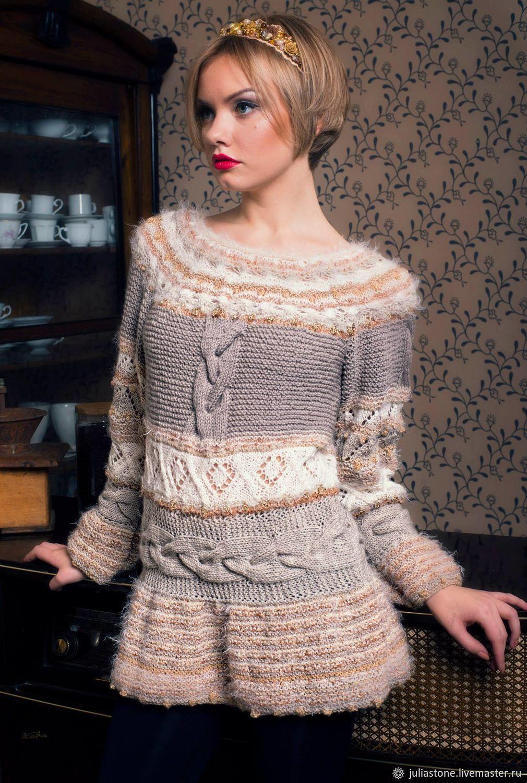 Кофты и свитера ручной работы. Ярмарка Мастеров - ручная работа. Купить Пуловер 'Нежная Экрю'. Handmade. Женственность, вязанный свитер