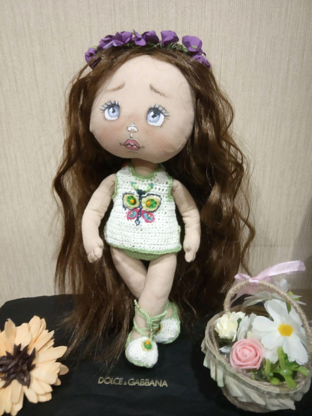 """Текстильная кукла """"Машенька"""" и ее нарядный гардероб, Куклы и пупсы, Прокопьевск,  Фото №1"""