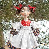 Куклы и игрушки ручной работы. Ярмарка Мастеров - ручная работа Кукла Танька из папье маше. Handmade.