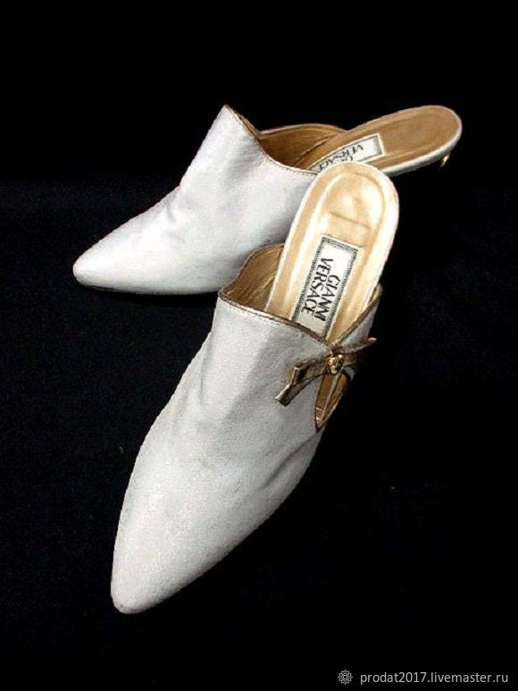 Винтажная обувь. Ярмарка Мастеров - ручная работа. Купить Винтаж: Туфли мюли женские Версаче. Handmade. Туфли женские