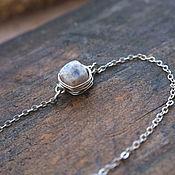 Украшения handmade. Livemaster - original item Silver bracelet with Peruvian opal. Handmade.