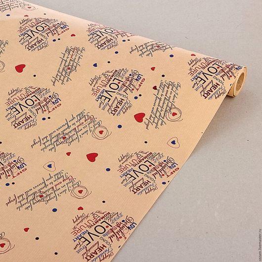 """Упаковка ручной работы. Ярмарка Мастеров - ручная работа. Купить Бумага крафт """"LOVE"""". Handmade. Крафт, крафт бумага"""