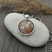 Украшения handmade. Livemaster - original item Sterling silver pendant Pink pattern. Handmade.