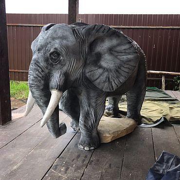 Для дома и интерьера ручной работы. Ярмарка Мастеров - ручная работа Слон из цельного дерева. Handmade.