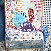 Фотоальбомы ручной работы. Ярмарка Мастеров - ручная работа Альбом для фотографий Морской2. Handmade.