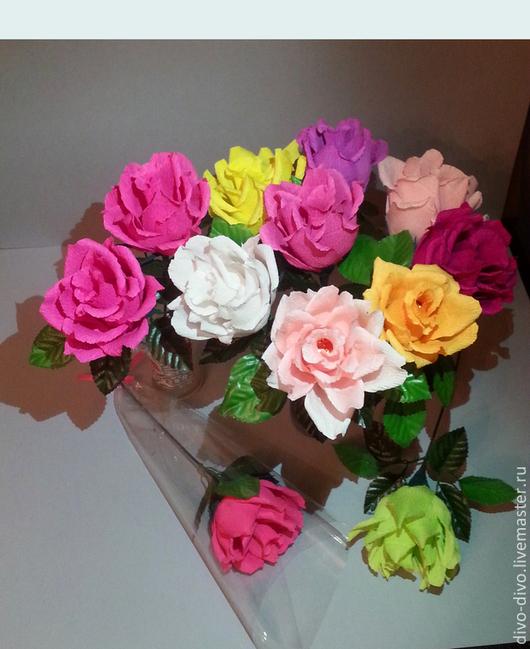Букеты ручной работы.Роза с конфеткой. Наталия Жукова.divo-divo.