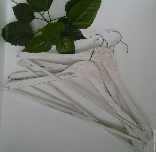 """Прихожая ручной работы. Ярмарка Мастеров - ручная работа. Купить Плечики-вешалка """"Винтаж"""". Handmade. Белый, вешалка для одежды, дом"""