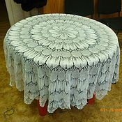 Для дома и интерьера ручной работы. Ярмарка Мастеров - ручная работа скатерть  на круглый стол. Handmade.