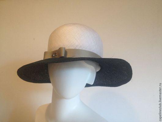 Шляпы ручной работы. Ярмарка Мастеров - ручная работа. Купить Соломенная шляпа. Handmade. Тёмно-синий, классическая шляпа