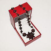 Винтаж handmade. Livemaster - original item Vintage Necklace Bohemian garnets (pyrope) red brass 19th century. Handmade.