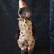 Куклы и игрушки ручной работы. Ярмарка Мастеров - ручная работа Старый цирк. Клоун-мишка, по имени Бо. Handmade.
