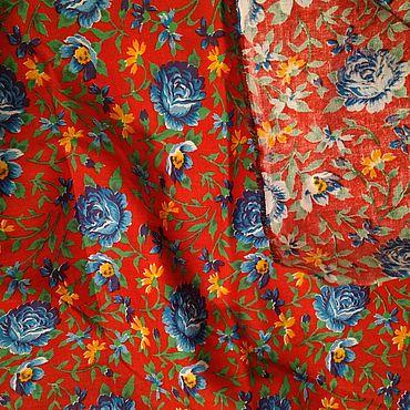 Материалы для творчества ручной работы. Ярмарка Мастеров - ручная работа 240 х 97 см. Ткань ситец, винтаж.. Handmade.