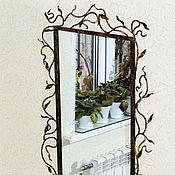 Для дома и интерьера ручной работы. Ярмарка Мастеров - ручная работа Кованая оправа для зеркала с полочкой напольной. Handmade.
