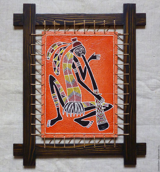 Этно ручной работы. Ярмарка Мастеров - ручная работа. Купить Абориген с диджем. Handmade. Комбинированный, дикое, трубач, работа на коже