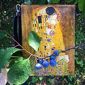 Клатчи ручной работы. Ярмарка Мастеров - ручная работа Сладкий Поцелуй: клатч книга из кожи или эко кожи. Handmade.