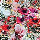 """Шитье ручной работы. Ярмарка Мастеров - ручная работа. Купить Жаккард D&G """" Очарование"""". Handmade. Цветы, ткани Италии"""