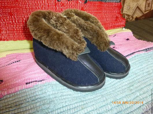 Обувь ручной работы. Ярмарка Мастеров - ручная работа. Купить Шитые тапочки-ботики. Handmade. Тапочки, социальная деревня