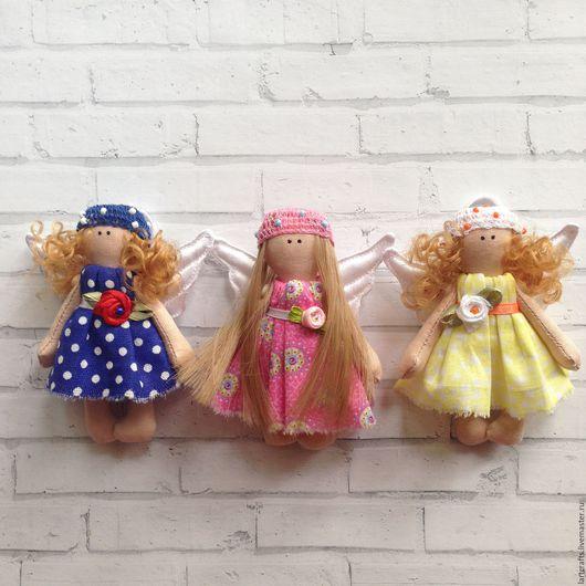 Коллекционные куклы ручной работы. Ярмарка Мастеров - ручная работа. Купить Ангелок. Handmade. Тёмно-синий, текстильная игрушка, брелок