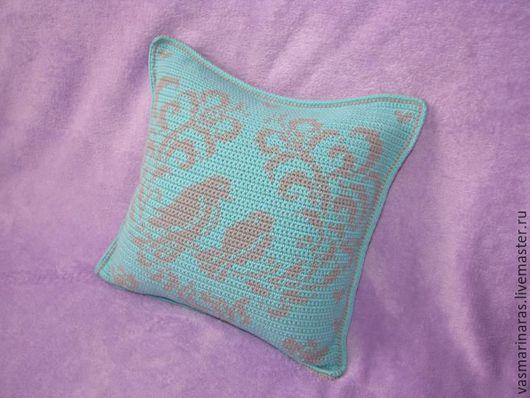 Текстиль, ковры ручной работы. Ярмарка Мастеров - ручная работа. Купить Декоративная подушка. Handmade. Комбинированный, подушка крючком, красивая