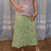 """Одежда ручной работы. Ярмарка Мастеров - ручная работа Юбка Летняя """"Нежность"""", юбка вязаная ажурная, летняя одежда. Handmade."""