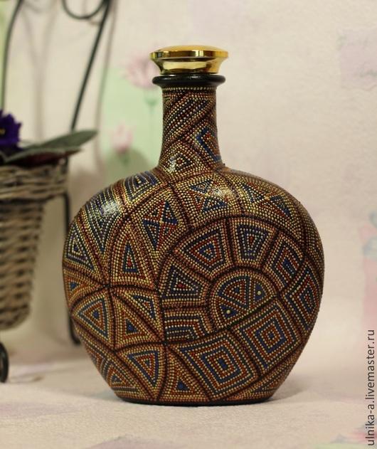 Подарочное оформление бутылок ручной работы. Ярмарка Мастеров - ручная работа. Купить Бутылка Перу. Handmade. Разноцветный, бутылка